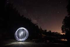 Orbin' (JLandau Photography) Tags: tucson arizona casagrande domes smoke mask milkyway longexpo steelwool steel wool night photography orb long exposure portrait stars