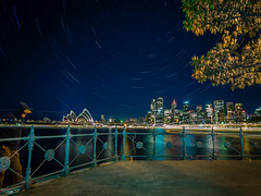 Ghostly Trails (Laith Stevens Photography) Tags: longexposure citylights startrails ghostly figures selfie smooth night sydney harbor nsw australia olympus omd em1 1240mm f28 pro lens cool ngc flickr all blue vivid
