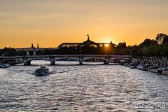 La Seine et le Grand Palais - Paris - France (vlegallic) Tags: paris ledefrance france fr grandpalais seine fleuve sunset coucherdesoleil soleil sun nikon d610 tamronsp2470mmf28divcusd tamron tamron2470 eau water extrieur orange