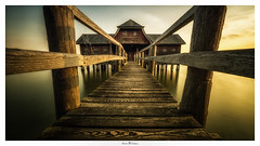 Fish House (Photo Holica) Tags: steg web catwalk walk stegen ammersee ndfilter zeiss sony bigstopper