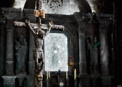 All from salt - Mines in Krakow (Philippe Kassouf) Tags: orange religious mine catholic moody christ cathedral salt poland krakow crucifix