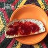 July 11, 2016 (Carole Julius) Tags: food breakfast toast jam fiestaware strawberryjam project366 jamandbread yip2016