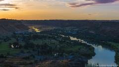 Snake River Gorge (ngunbileg) Tags: sunset water beautiful beauty river nikon snake canyon falls idaho twinfalls waterfalls gorge nikonusa nikond810