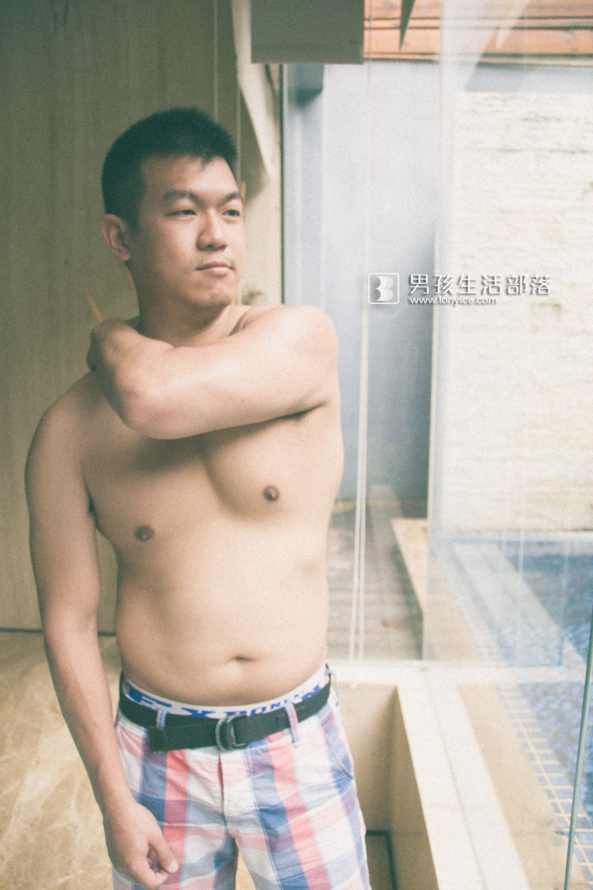 Poolside man #5
