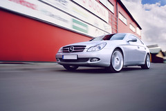 MB Speed (concept328) Tags: auto camera new beautiful car automobile shiny photoshoot shot parking lot fast automotive rig mercedesbenz dslr amg cls