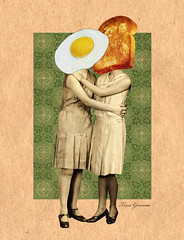 Friday Five - No 80 (T Garceau) Tags: collage breakfast kiss toast egg embrace digitalcollage tinagarceau