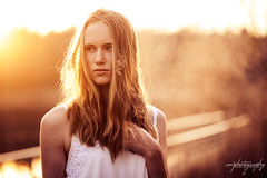 blurry (soulsinpictures) Tags: sunset portrait woman sunlight girl expressive dust mystic