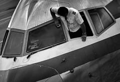 Damn those flies !! (CJS*64) Tags: windows window plane manchester aircraft panasonic clean flies boeing pilot manchesterairport windowcleaner b757 fz45 dmcfz45 panasonicfz45 craigsunter cjs64