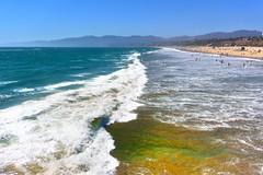 Turbulent Waves (Joe Lach) Tags: ocean california beach water sand waves santamonica pacificocean turbulence turbulent waterpictorial joelach