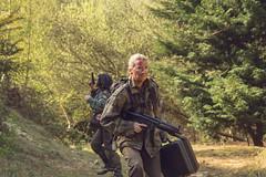 "Sedition , the Movie (steiner2009 ""AKA Dr Dust "") Tags: trees film forest army death blood woods war helmet case pistol filmstills medic suitcase machinegun mp4 filmset sedition combats femalesoldiers"