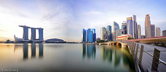 Jubilee Glory Of The Bay (|SiLeNcE|) Tags: singapore jubileebridge marinabay sunrisemarinabay jubileebridgesingapore