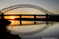 Runcorn Bridge (Brian Sayle) Tags: bridge sunset water liverpool river photography cheshire brian sayle runcorn merseyside widnes runcornbridge briansayle