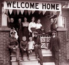 Back from the War, about 1918 (JFGryphon) Tags: worldwari cominghome mcnish oldtoronto westonontario henrybest ansonmcnish ansonandrewmcnish nettiebrookmanmcnish mcnishfamily mcnishhome kateleebest florencecatherinemcnish
