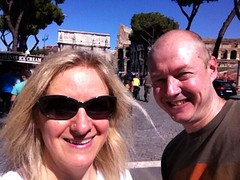 "Selfie of Edita and me outside the Colosseum (Photo: Edita Nichols) • <a style=""font-size:0.8em;"" href=""http://www.flickr.com/photos/41849531@N04/17343920596/"" target=""_blank"">View on Flickr</a>"