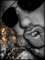 Sellfee, underwater. (CWhatPhotos) Tags: cwhatphotos camera photographs photograph pics pictures pic picture image images foto fotos photography artistic that have which contain olympus tough tg3 compact edited underwater under water self selfee blow blowing bubbles bubble sun glasses shades crazy why wear them beard goatee selfie selfies selfees flickr
