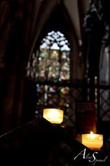Bougies cathdrale (Aline Sprauel Photography (AS photos)) Tags: cathdrale vitrail bougie vitraux priere cierge cathdraledestrasbourg