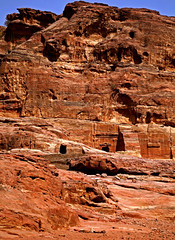 Path to the Monastery 44 (David OMalley) Tags: world city heritage rose rock stone site desert path petra siq carving unesco east jordan monastery arab middle carvings jordanian monumental jebel nabatean nabateans hewn maan almadhbah