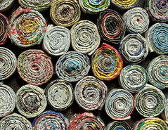 Colourful rolls (Tony Worrall Foto) Tags: color art paper nice artwork colours arty stuck circles space shades made hues roll folded fold colourful printed rolled reclaimed placed paperroll