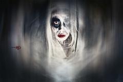 The Ghost of Oyuki (Spoken in Red) Tags: halloween ghost eerie horror redlips paranormal decayed apparition supernatural blackeyes frightening whitehair stringyhair whiteskin oyuki japaneseghost japaneselore spokeninred