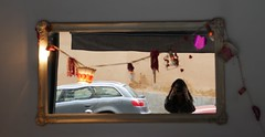 mirr (hayetusboletus) Tags: street reflection shop mirror cafe mirr