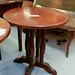 Dark wood circular table