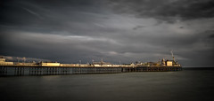 Highlighted (stuartgibbons95) Tags: longexposure sunset sea sky sun beach clouds sussex pier brighton palace