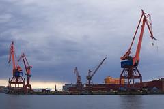 Cranes (jbs636) Tags: city sweden gothenburg