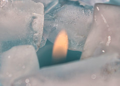 Playing With Fire (Helen Orozco) Tags: hot cold ice flame iceandfire macromondays