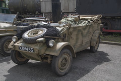 XBV 455  Volkeswagen Kubelwagen (wheelsnwings2007/Mike) Tags: show military railway vehicle staffordshire foxfield 455 volkeswagen 2016 cheddleton kubelwagen xbv
