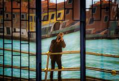 The photographer in Venice.... (Zeger Vanhee) Tags: venice selfportrait texture water gondolas vaporetto medievalarchitecture veniceviews