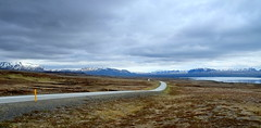 Landscape road (fabiankoppers) Tags: road street old travel blue light summer sky orange mountain lake snow mountains color colour reflection green abandoned nature water rain yellow clouds contrast landscape island iceland spring pretty day hiking horizon north panoramic hills scandinaviaisland