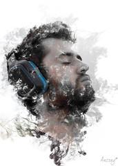 Msica (ancoay) Tags: portrait retrato pau humo retrat fum