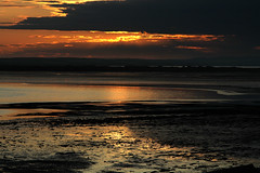 Lindisfarne Sunset (Gay Biddlecombe) Tags: sunset sea beach clouds holyisland lindisfarne absolutelystunningscapes