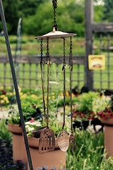 Unusual Wind Chimes - Cantigny Wheaton IL (Meridith112) Tags: music utensils metal garden fun illinois nikon midwest wind bokeh creative fork spoon il copper unusual windchimes quirky windchime spatula wheaton flickrmeetup mccormick cantigny potlid cantignypark laddle wscf cookingutensils nikon105 ideagarden cantignygardens colonelrobertrmccormick amyirwinmccormick mccormicksmansion mccormickshome mccormickscantignyhome nikond610 photowalk642016