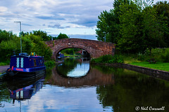 195/366 M Is For....Moored Up  ( in explore 14/07/2016 ) (crezzy1976) Tags: bridge water reflections boat canal nikon cheshire outdoor photoaday 365 barge narrowboat day195 misfor ellesmereport shropshireunion d3100 yahooyourpictures crezzy1976 photographybyneilcresswell 366challenge2016
