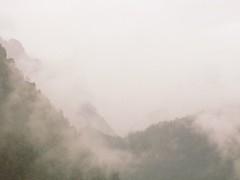 Dreamy Tateyama mountainscape, Japan (cattan2011) Tags: japan misty painting landscape  fineartphotography mountainscape takeyama fogging  travelblogger traveltuesday  kuroberopeway takeyamamountain