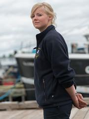Bluenose II Crew (Ron Scubadiver's Wild Life) Tags: street woman canada girl nova dock nikon sailing candid style blond scotia dockside 24120