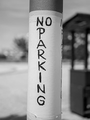 No Parking (Daniel C. Brunner) Tags: bnw blackandwhite bw noiretblanc blanco negro still parking stillife