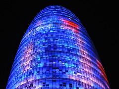 Torre Agbar (attilaboros86) Tags: barcelona tower night skyscraper spain catalunya torreagbar
