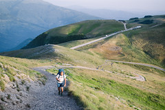 Never Stop! (Pernin) Tags: rosso sibillini mountains landscape hiking trekking trail sunset outdoor adventure italy marche umbria appennini