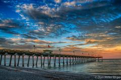 Sharky's Pier (DonMiller_ToGo) Tags: cloudsonfire hdr cloudporn sunrise 3xp hdrphotography pier clouds sky d5500 sharkys outdoors goldenhour florida