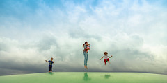 Air (Michael Angelo 77) Tags: clouds familyportrait kids fun jump jumping colors happy motherchild