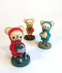 Woot Berries (3 of 7) (MelissaSueArt) Tags: wootbear woot plush designertoy handmade embroidery koala arttoy collectable wool felt stuffed fauxtaxidermy berry