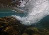 Breaking Waves (.annajane) Tags: underwater water waves ola olas bajoelagua submarino agua wave bubbles burbujas españa islascanarias canaryislands rocks lanzarote spain snorkelling