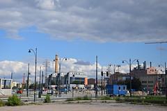 d - old, new and under construction (JoannaRB2009) Tags: dfabryczna trainstation d lodz polska poland city urban dzkie lodzkie cityscape ec1 summer clouds constructionsite building architecture sky blue