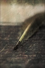 ink pen - quill (Jackal1) Tags: quill ink words writtenword vintage old