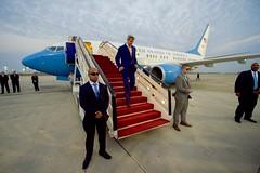 Secretary Kerry Deplanes at Abdulaziz International Airport in Jeddah (U.S. Department of State) Tags: johnkerry jeddah saudiarabia