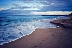 Footprints (Nige H (Thanks for 6.5m views)) Tags: beach sand footprints sea waves coast shoreline playadelduque costaadeje tenerife sky clouds seascape nature landscape