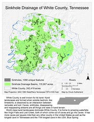 Sinkholes in White County, Tennessee (Chuck Sutherland) Tags: water map basin caves rivers watershed limestone streams karst sinkholes sinkhole creeks drainage whitecounty karstlandscape