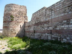 Ancient wall from Constantinople (ashabot) Tags: castles turkey cities istanbul walls streetscenes constantinople antiquities